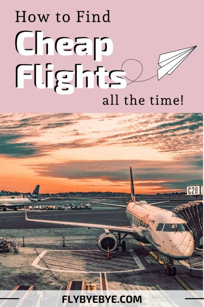 Complete guide to find cheap flights every single time. Learn how to get cheapest airplane tickets possible, save money and time. Keep reading if you are interested in how to book cheap flight, the cheapest flights possible, sites for cheap travel, hacks for flying cheap, cheap airplane tickets.