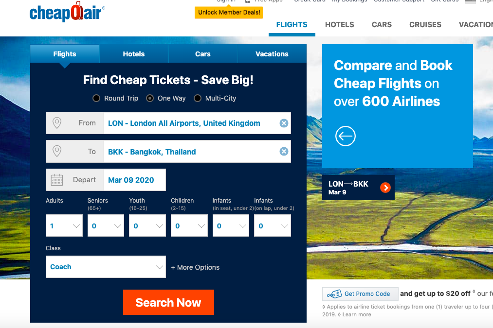 find cheap airplane tickets cheapoair